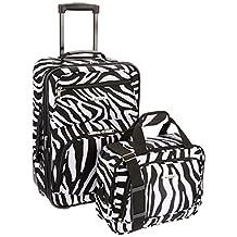Rockland F102 Luggage Printed Luggage Set, Zebra, Medium, 2-Piece