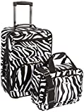 Rockland Luggage 2 Piece Printed Luggage Set, Zebra, Medium