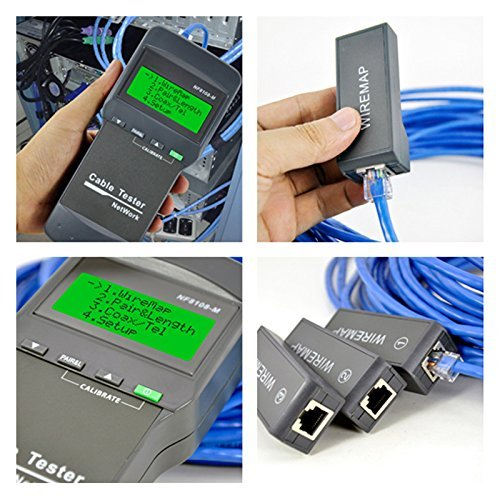 Nf-8108-m Multifunction Network LAN Phone Cable Tester Meter Cat5 Rj45 Mapper 8 Pc Far End Test by Cruiser