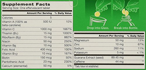 Berocca Orange Effervescent Tablets 10-Count (Pack of 4)