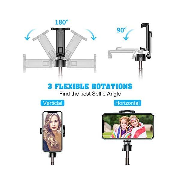 Bovon Bastone Selfie, Mini Estensibile 3 in 1 Selfie Stick Treppiede Smartphone con Telecomando Wireless Compatibile con… 4 spesavip
