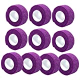 Generic 10 Pcs Purple Nail Art Flex Wrap Finger Care Bandage