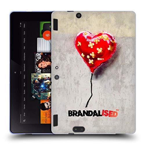 Official Brandalised Bandaged Heart Banksy Wall Art Soft Gel Case Compatible for Amazon Kindle Fire HDX 8.9 (Banksy Kindle Case)