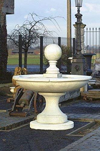 pompidu-living Fuente, Pozo Jardín, Fuente Ornamental, Fountain, con Bola, H 200 - Acabado Antiguo: Amazon.es: Jardín