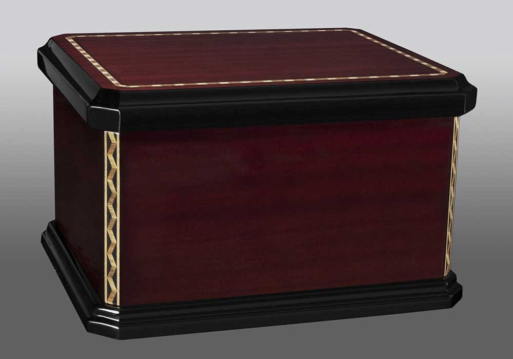 Mission Laquered Wood Chest Cremation Urn