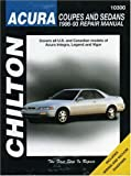 Acura Coupes and Sedans, 1986-93, Chilton Automotive Editorial Staff, 0801984262
