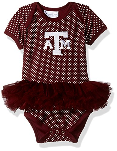 - Two Feet Ahead NCAA Texas A&M Aggies Children Girls Pin Dot Tutu Creeper,12 mo,Maroon