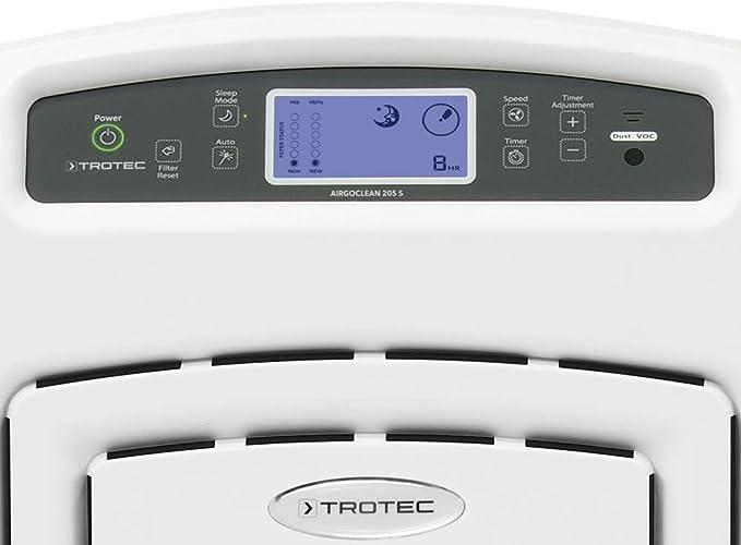 TROTEC Purificador de aire AirgoClean 205 S, filtro True HEPA, 510 ...