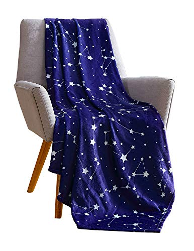 Big Believers Plush Throw Blanket: Starry Sky Themed Soft Velvet Fleece for Kids (Stellar)