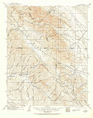 YellowMaps Cholame CA topo map, 1:125000 Scale, 30 X 30 Minute, Historical, 1915, Updated 1956, 20.7 x 16.5 in - Tyvek ()