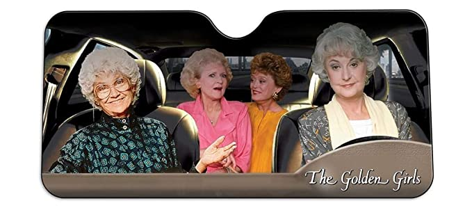 Image Unavailable. Image not available for. Color  Golden Girls Windshield  Sun Shade Visor ... d3b8b3b20b6