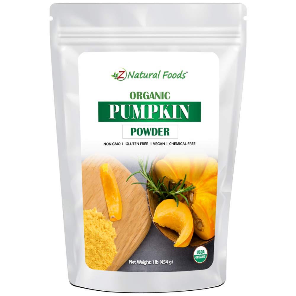 Organic Pumpkin Powder - Make Delicious Pumpkin Spice Lattes & Coffee - Plant Based Superfood Supplement For Cooking & Baking Recipes - Raw, Vegan, Non GMO, Gluten Free, Kosher - 1 lb