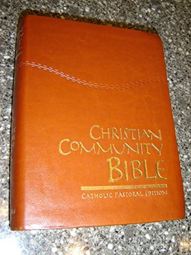 Christian Community Study Bible - Catholic Pastoral Edition / Beautiful Luxury Leather Bound with Golden Edges and Thumb Index / Forty-eight Edition / Introductions and Commentaries Included