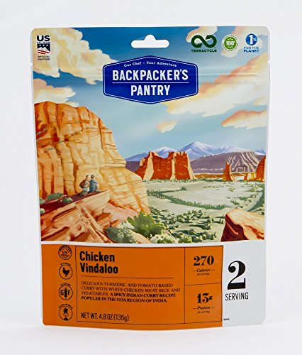 Backpacker's Pantry Chicken Vindaloo, Two Serving Pouch, (Packaging May Vary)