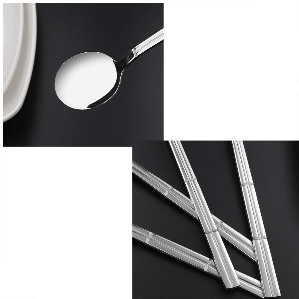 12-Piece Round Bouillon Spoon Lesbin Stainless Steel Soup Spoons