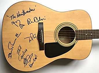 Tom Petty and the heartbreakers signed guitar Fender acoustic group autographed Beckett coa