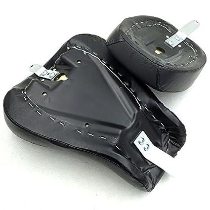 Driver Passenger Leather Black Seat Harley Davidson XL883N 883C 883L XL1200N 1200C 1200L