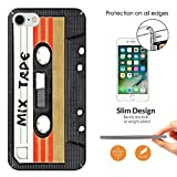 "001082 - Mix Tape Cassette Player Retro Music Dance Hip Hop RnB Boom Box Design iphone 6 Plus/iphone 6S Plus 5.5"" CASE Ultra Slim Light Plastic 0.3MM All Edges Protection Case Cover-Clear"