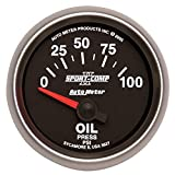 Auto Meter 3627 2-1/16'' 0-100 PSI Short Sweep Electric Oil Pressure Gauge