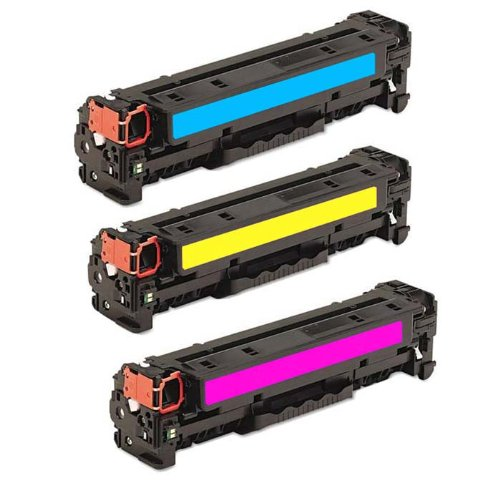 HI-VISION HI-YIELDS ® Compatible Toner Cartridge Replacement for Hewlett-Packard (HP) CF211A CF212A CF213A (1 Cyan,1xYellow, 1 Magenta, 3-Pack), Office Central