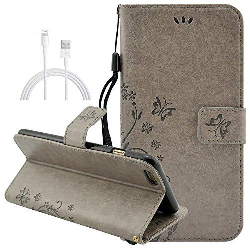 Nnopbeclik Folio PU Leder Wallet Case Schutzhülle für iPhone 6 6S 4.7