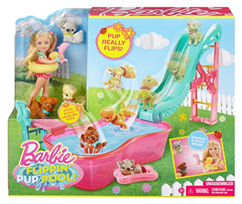 Barbie Flippin Pup Pool And Chelsea Doll Playset