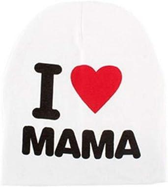Bambini Berretto Bambino Neonati Inception Pro Infinite Cappello I Love Mamma Mom Unisex Bambina Scritta Idea Regalo