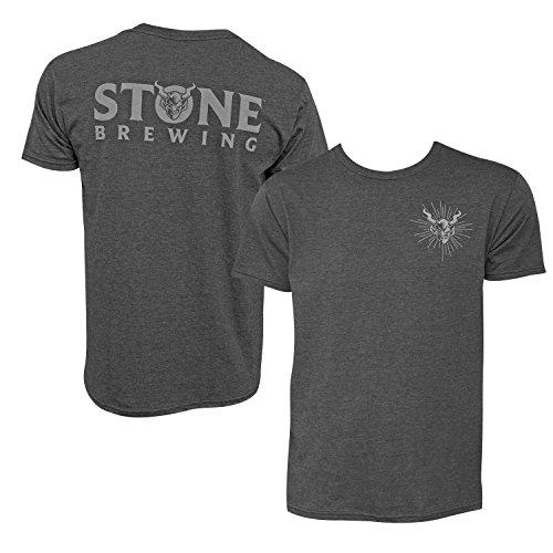 Stone Brewing Devil Logo Heather Men's T Shirt X-Large Gray