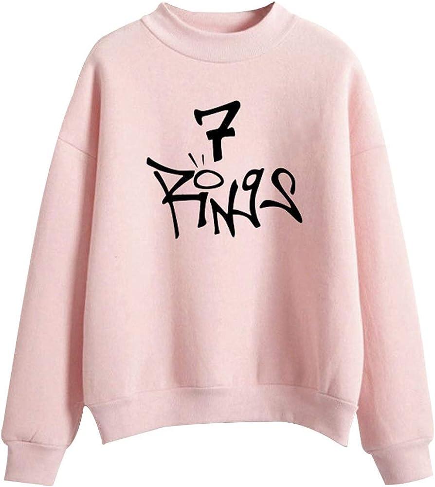 PZJ Femmes 7 Rings Sweatshirt Music Fans des V/êtements D/écontract/és Pull /à Capuche Manches Longues Top
