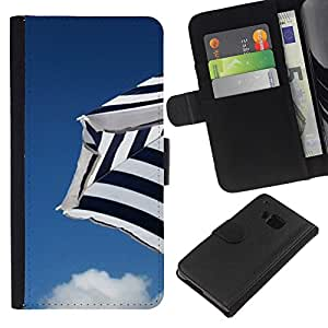 All Phone Most Case / Oferta Especial Cáscara Funda de cuero Monedero Cubierta de proteccion Caso / Wallet Case for HTC One M9 // Sky Beach Clouds Blue Seaside