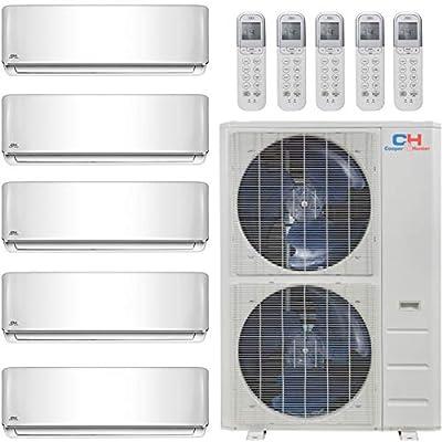 COOPER AND HUNTER Five 5 Zone Mini Split Ductless Air Conditioner Heat Pump 9000 9000 9000 9000 24000 Multi