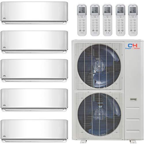COOPER AND HUNTER Five 5 Zone Mini Split Ductless Air Conditioner Heat Pump 9000 12000 12000 12000 18000 Multi