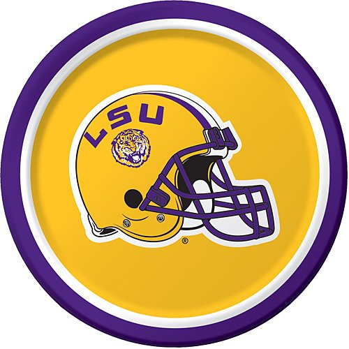 Creative Converting LSU Tigers Dessert Paper Plates (8 Count) ()