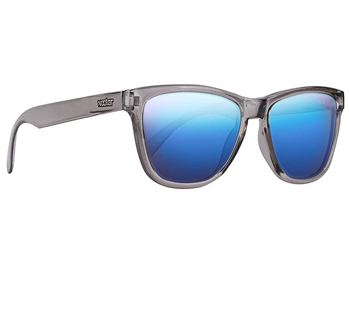 0eabfc8ffe Amazon.com  Classic Grey Flex Frame Polarized Sunglasses - Swiss TR90  Themoplastic - With Blue Mirror UV Protection Lenses For Men   Women - The  Actic By ...
