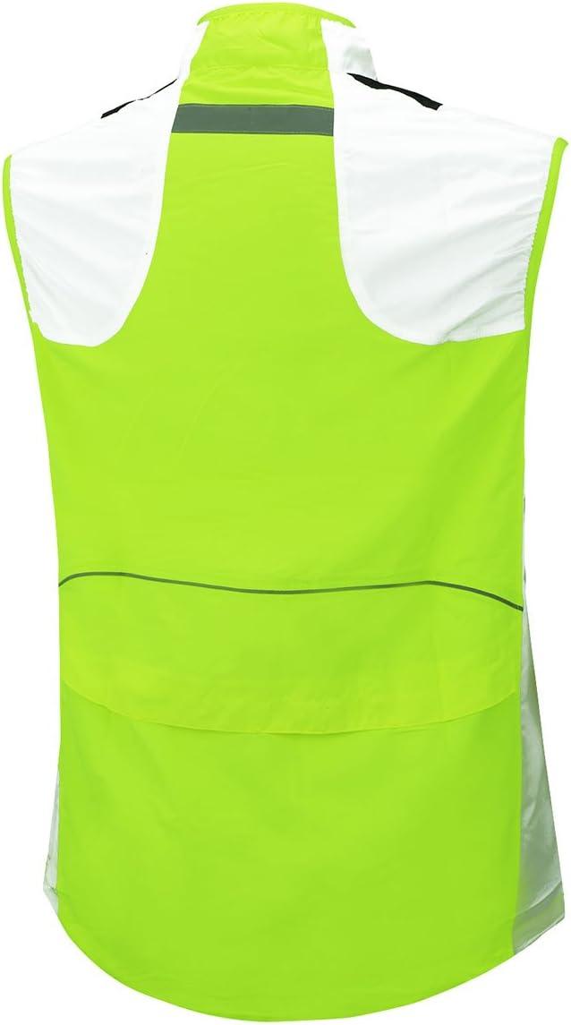 AIRTRACKS Gilet de Gilet Course//Running Vest//v/élo//Cyclisme//Veste Coupe-Vent l/ég/ère Multifonction