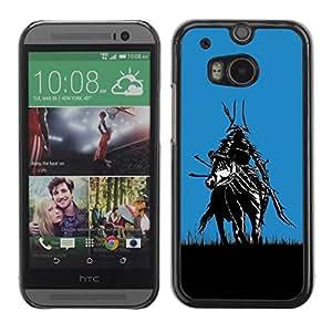 Slim Design Hard PC/Aluminum Shell Case Cover for HTC One M8 Samurai In Fields / JUSTGO PHONE PROTECTOR
