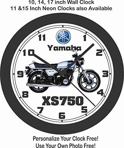 Amazon Com Jims Classic Clocks 1977 Yamaha Xs750 Big 10 Inch Wall