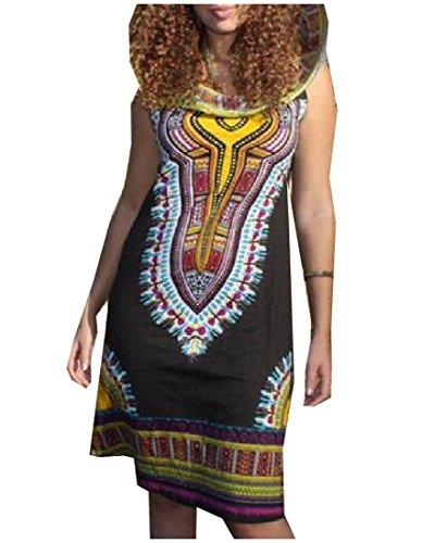 Totem Floral Mini Dress (Black) - 8