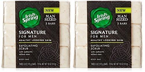 (Pack of 2) Irish Spring Signature for men, 3 bars per pack=6 bars