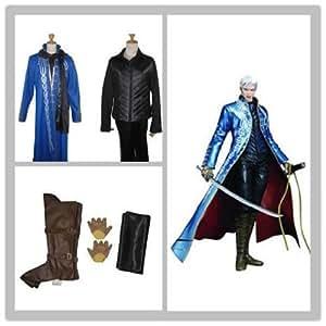 Devil May Cry III Vergil Vergil Cosplay Costume Full Set