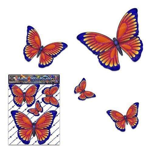 Pegatina del coche de la etiqueta engomada del coche del vinilo animal pequeño naranja de la mariposa para la computadora portátil, caravanas, camiones, barcos ST00025OR_SML - JAS Stickers