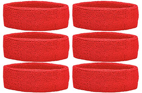 Unique Sports Team Headbands , Red