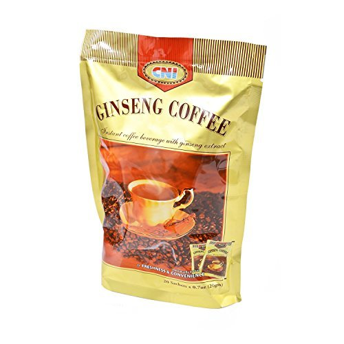- MUST BUY ! 1 Pack CNI Ginseng Coffee ( 20 Sachets x 20g Per Pack ) Instant Coffee Beverage
