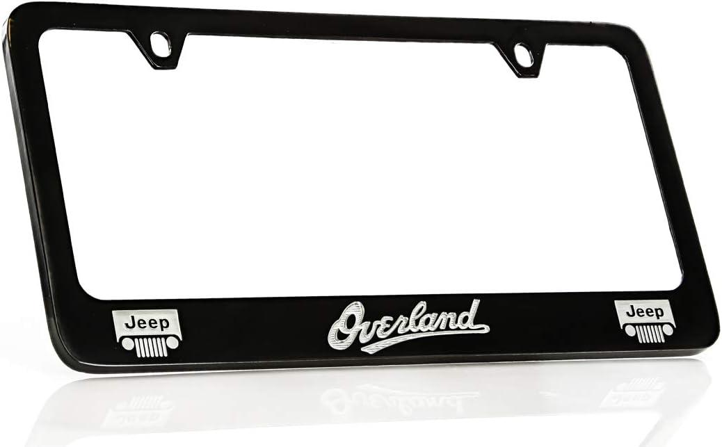 Jeep HEMI Chrome Metal License Plate Frame Mopar 4 Hole