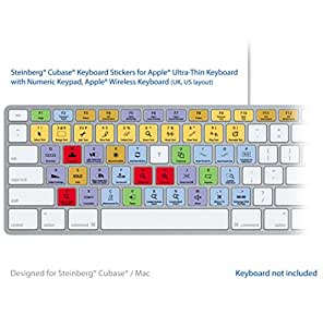 Steinberg Cubase / Nuendo Laptop Keyboard Stickers - para MAC