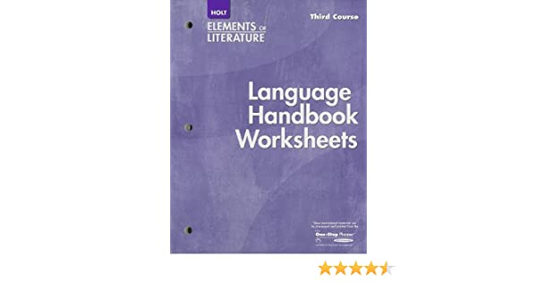 Counting Number worksheets fun chemistry worksheets : Elements of Literature Language Handbook Worksheet, Third Course ...