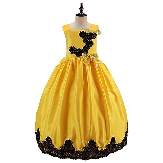 Cvbndfe Vestido de Princesa de Las niñas Falda Larga para niños ...
