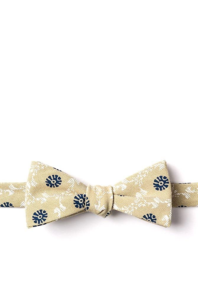 La Grande Yellow Cotton Skinny Bow Tie