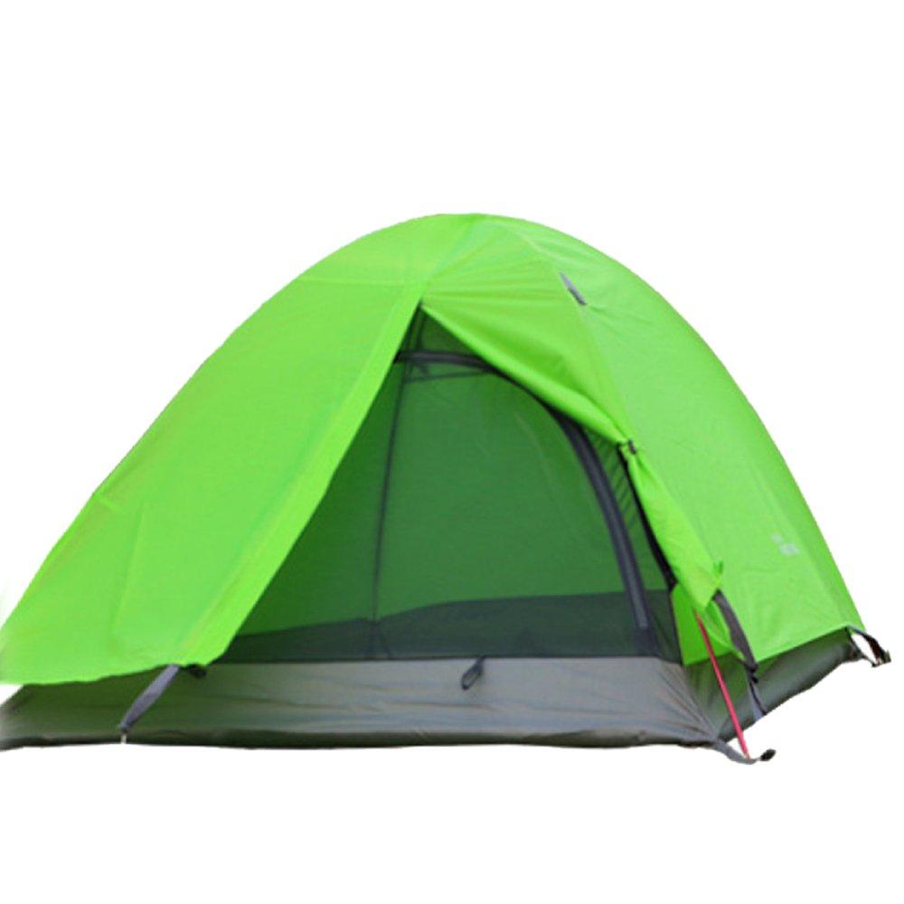 Jiu Bu Camping Zelte 2 Personen Doppel Wasserdicht UV Outdoor-Camping Wandern Reisen Blau Rot Grün