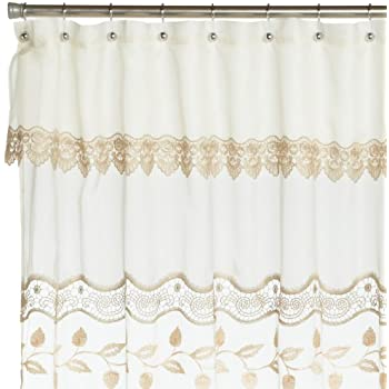 Amazon Com Verona Embroidered Shower Curtain Home Amp Kitchen